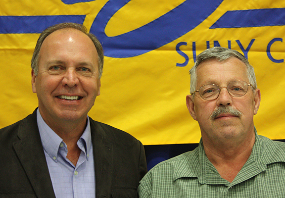 Alfred State President John M. Anderson with Daniel Noyes
