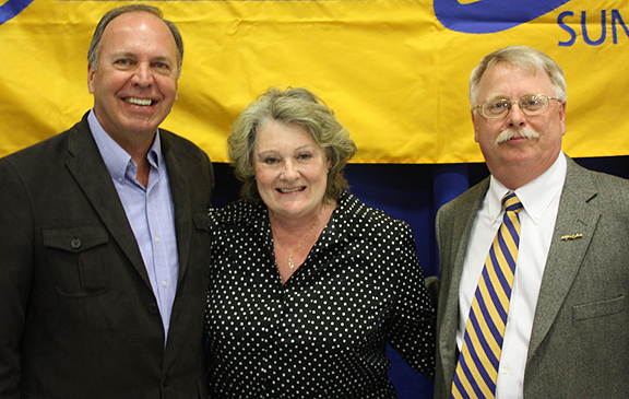 Pictured here, l-r: Alfred State President John M. Anderson; Gerling-Yelle; and Neal.