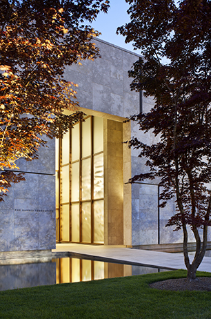 Architecture is a noun poster image, Entrance to the new Barnes Foundation Museum in Philadelphia designed by Tod Williams