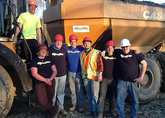 group of heavy equipment operations students during their spring break