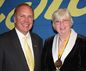 President John M. Anderson and College Council Chair Patricia K. Fogarty