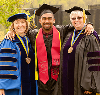 Interim President Valerie Nixon, Ryan M. Dontoh, and Alfred State College Council Chair Patricia K. Fogarty