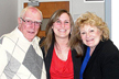 WWII veteran Paul Gerling with daughter, Professor Sandra Gerling-Yelle (far right) and court reporting instructor Danielle Green (middle)