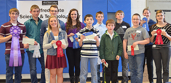 Winners of the 15th Annual Regional Science and Technology Fair