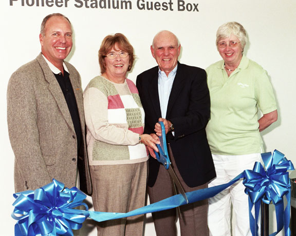 Pioneer Stadium Guest Box Ribbon-cutting Ceremony - Homecoming/Family Weekend 2010