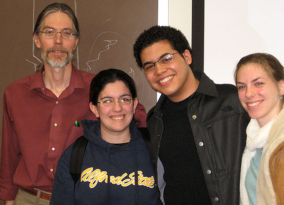Professor Amman with members of ASC Honors Program