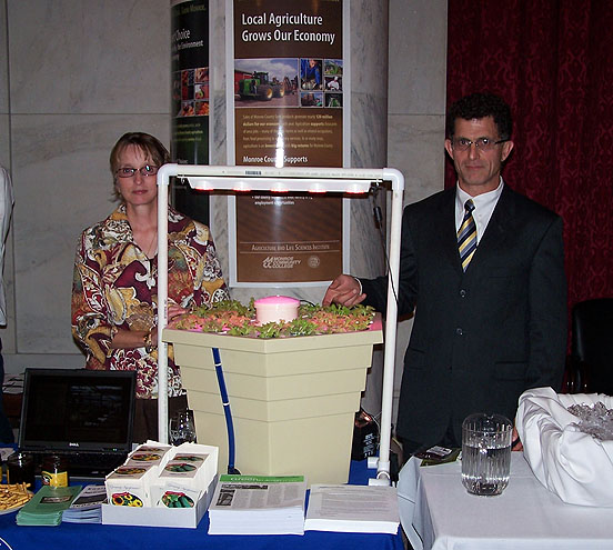 Condon and Rosati staff the State University of New York table.