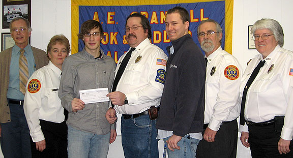 Check presentation to AE Hook and Ladder Company