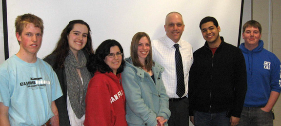 Gregory Sammons with Honors Program members