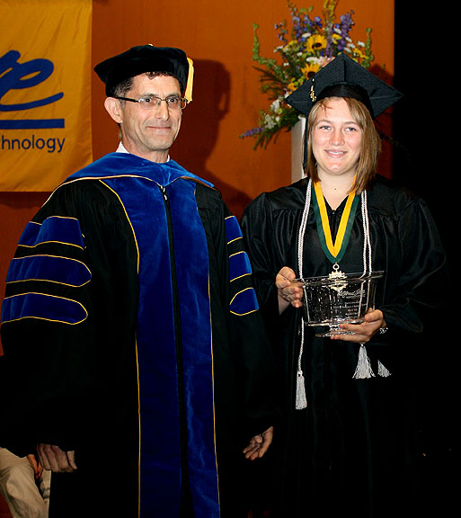 Dr. Ronald R. Rosati presented the Paul B. Orvis Award for Excellence to Sara Berg.