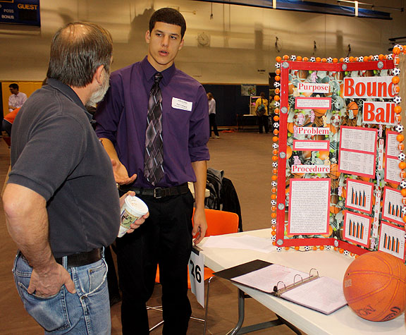 Science fair entrant Pat Folland, Hinsdale Central School