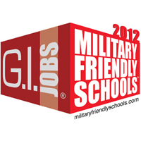 G.I. Jobs lists ASC as a 2012 Military Friendly School.