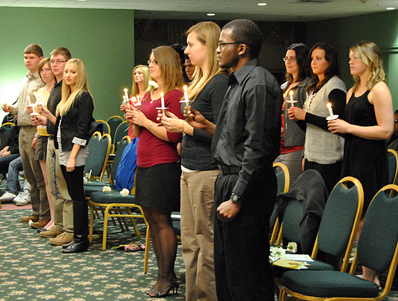 Phi Theta Kappa (PTK) national Honor Society induction ceremony