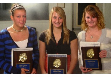 Smith, Rath & Matteson With Women's Soccer Awards