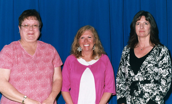 Elizabeth Weber, Barbara Brockway, and Deb Tomm