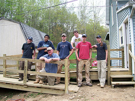 building trades ramp donated