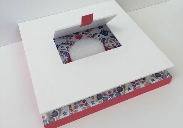 box with a flap open