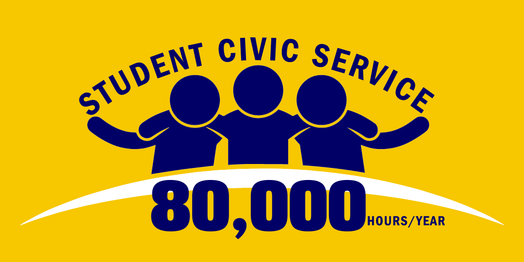 Student Civic Service 80,000 hours/year