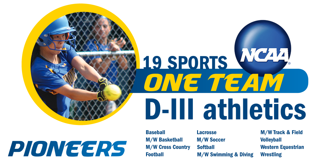 19 Sports. One Team. D-III athletics. NCAA logo