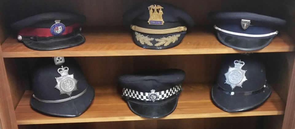 six officer hats