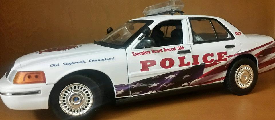 white police car