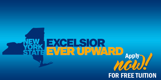 New York state excelsior ever upward, apply now for free tuition