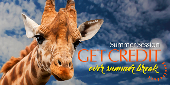 giraffe Summer Session get credit over summer break