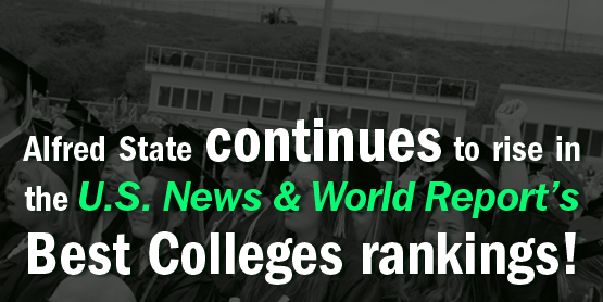 Alfred State continues to rise in the U.S. News & World Report's Best Colleges rankings!