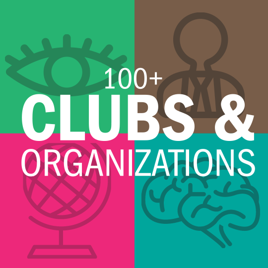 100+ clubs and organizations