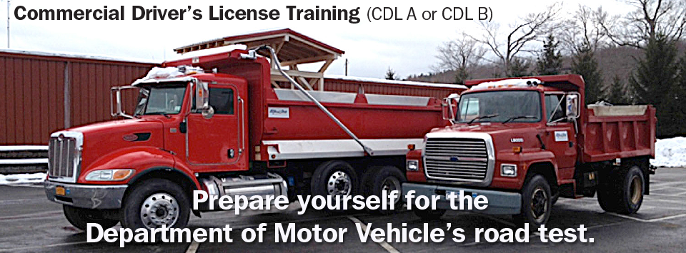 Commercial Driver's License Training. Prepare yourself for the DMV road test.