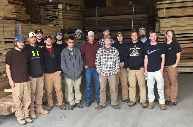 group of carpenter students