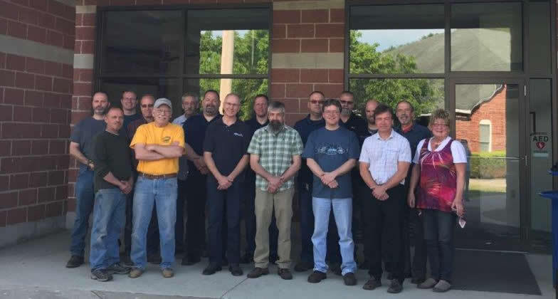 Automotive Department staff members outside