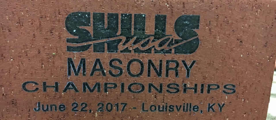 brick that says SkillsUSA masonry championships