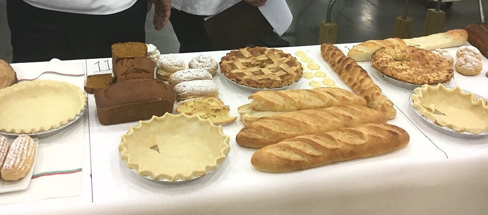 pastries on a table