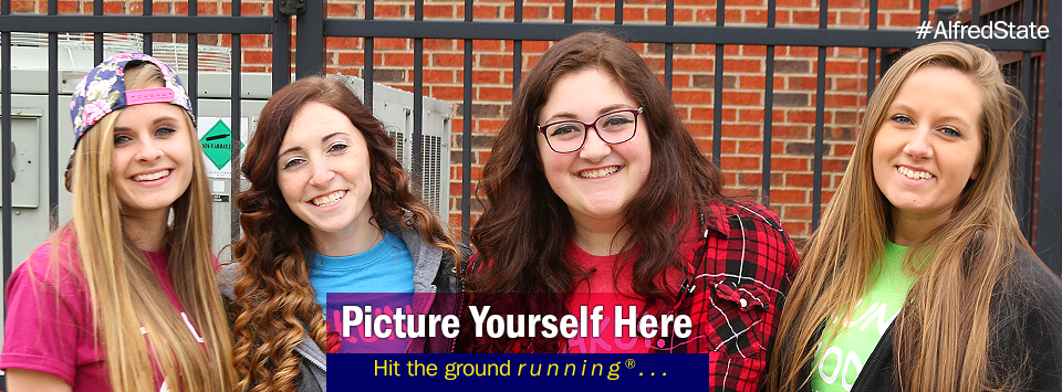 4 girls pose for a photo at hot dog day. Picture Yourself Here, Hit the ground running.