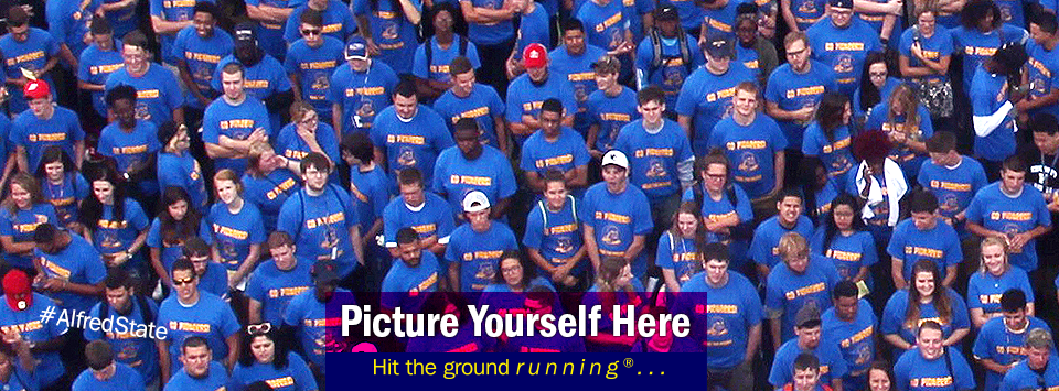 Incoming students make their first A. Picture yourself here, hit the ground running®...