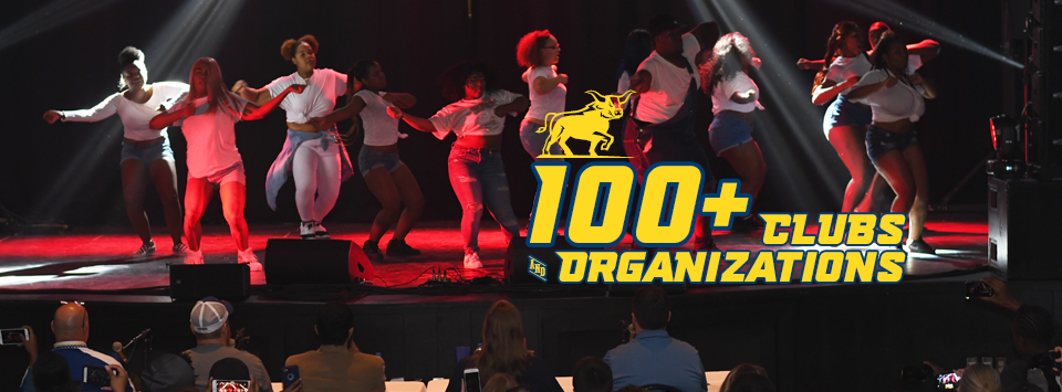 100+ Clubs and Organizations. Image of Dance team performing at Alfred's Got Talent.