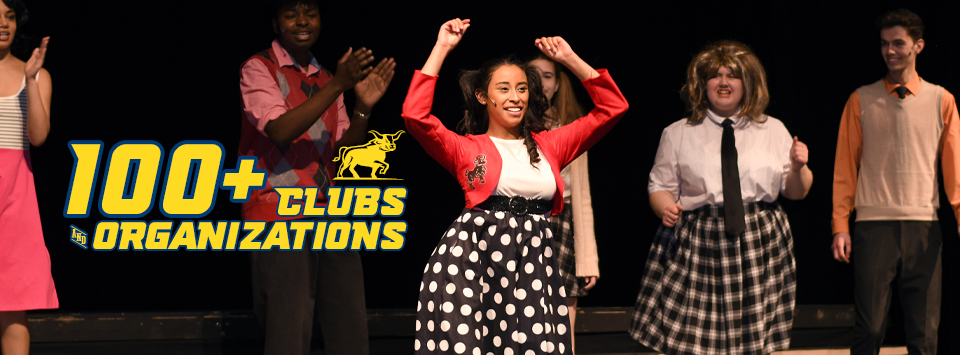 100+ Clubs and Organizations. Image of drama club prerformace of Hair Spray.