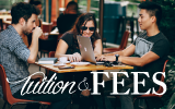 tuition and fees, students sitting