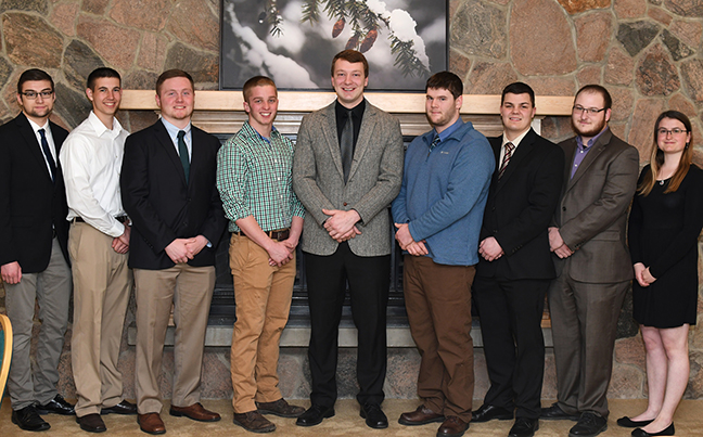 new members of the Alfred State chapter of the Sigma Lambda Chi honor society