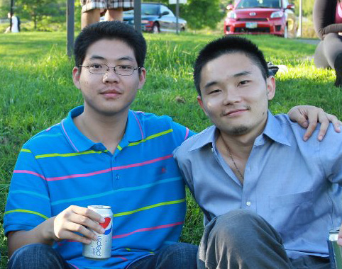 two male international students
