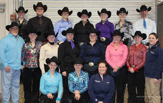 western equestrian team with President Sullivan