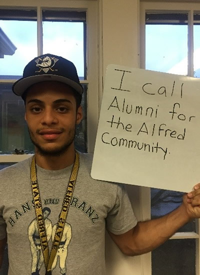 Anthony Pena - I call alumni for the Alfred community