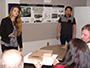 Taylor Chapman, an architectural technology major from Hamburg, and Roberto Trujillo, an architecture student from Jackson Heights, present their schematic designs