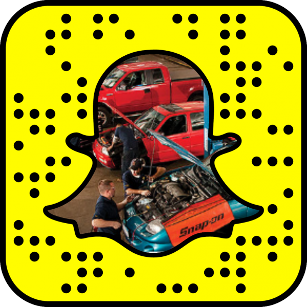 Snapcode linking to automotive web page