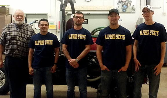 members of this year's BUV Team wearing Alfred State T-shirts