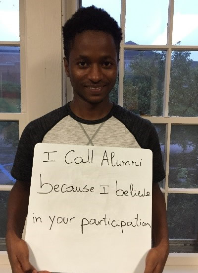 Barry Abdou Solom - I call alumni because I believe in your participation