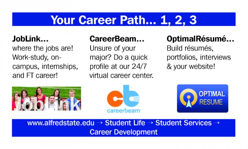Your Career Path 1, 2, 3, Job Link, CareerBeam, OptimalResume,  My Optimal Resume