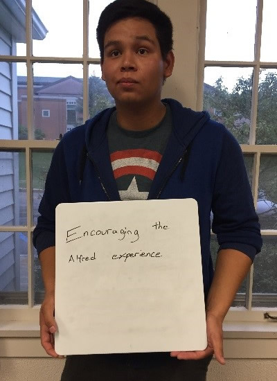 Brandon Martinez - encouraging the Alfred experience