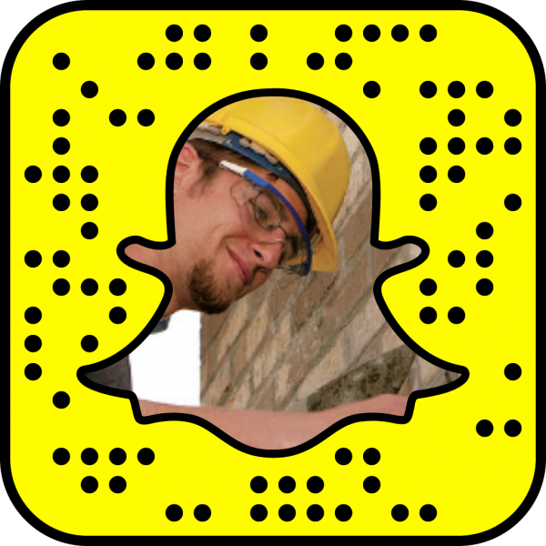 Snapcode linking to building trades web page